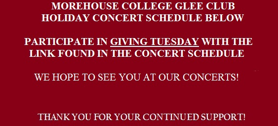 Morehouse College Glee Club 2017 Season